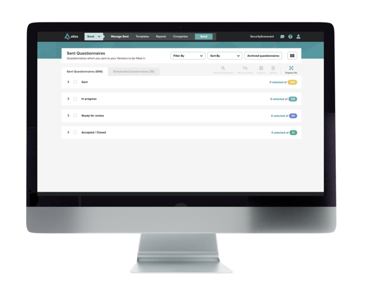 Atlas is the trusted questionnaire evidence and exchange platform built for modern sender management. Never send another spreadsheet or individual email again.