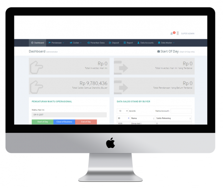 peer to peer lending apps admin dashboard